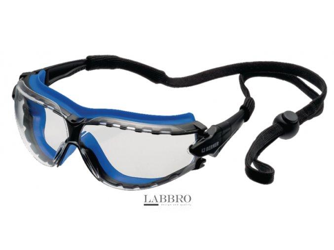 Berner čiré Ochranné brýle Kombi se šňůrkou
