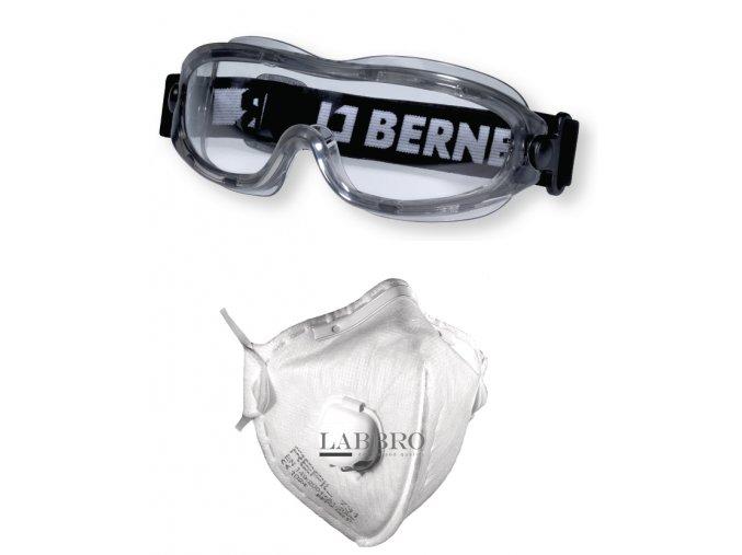 brýle na kolo Compact respirátor FFP2