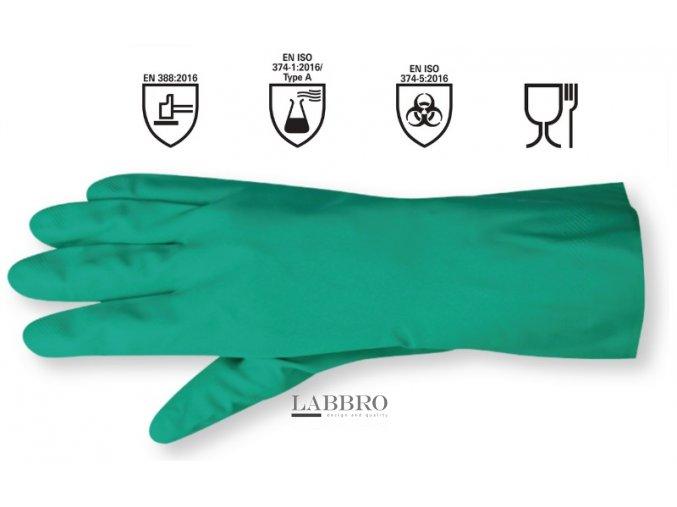 Ochranné rukavice proti chemikáliím berner