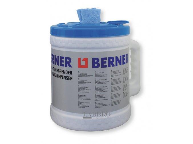 Zásobník s utěrkami z buničiny Berner