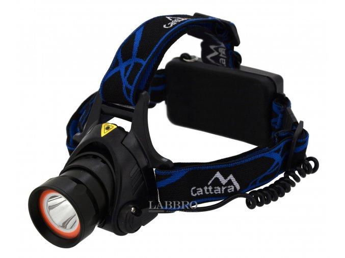 Čelovka LED 400lm (1x XM L+15x SMD)