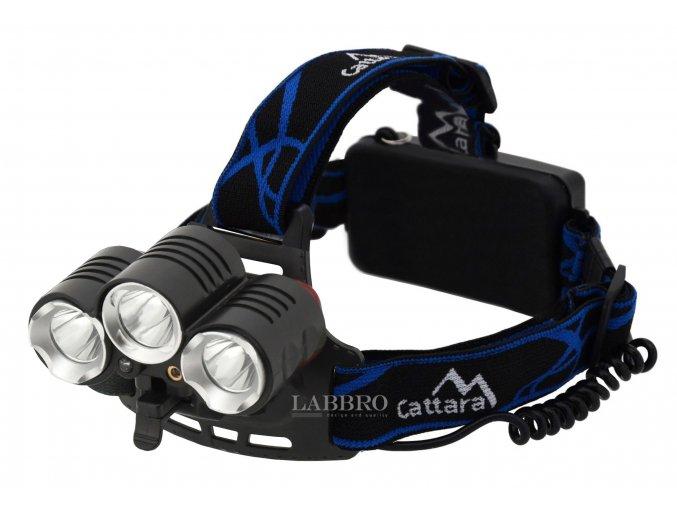 Čelovka LED 400lm (1x XM L+2x XP E) s laserem