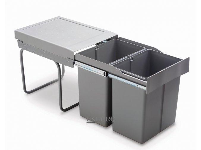 Vestavný odpadkový koš Linea 290 - 2x21 litrů