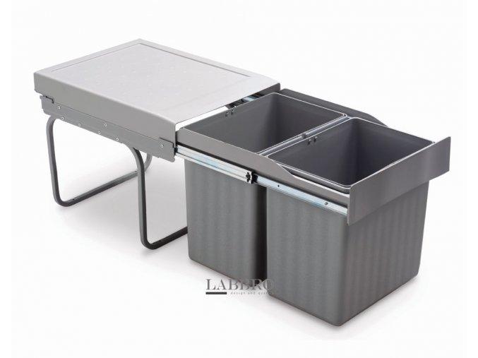 Vestavný odpadkový koš Linea 291 - 2x16 litrů