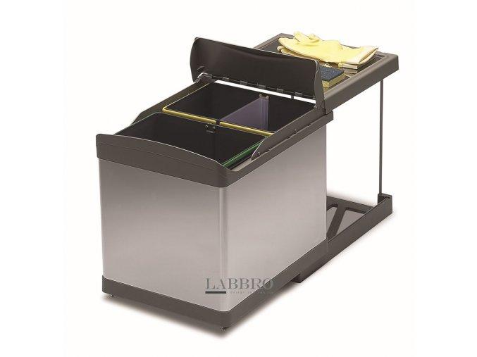 vestavný odpadkový koš GOLLINUCCI Sorter Linea 511, 450 mm nerez 1