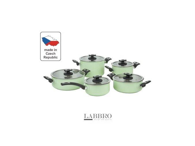 KOLIMAX Sada nádobí COMFORT GREEN, 10 dílů, s venkovním keramickým povrchem