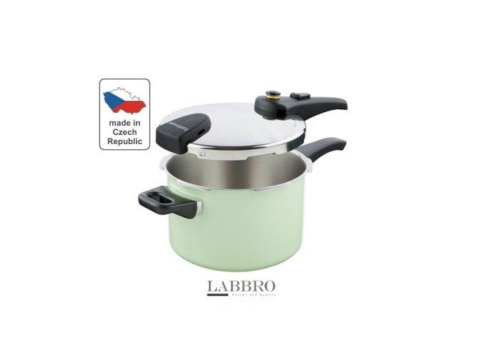 KOLIMAX Tlakový hrnec BIOMAX s BIO ventilem, průměr 22cm, objem 5.5l, COMFORT GREEN