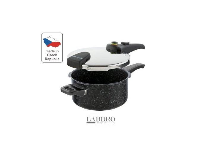 KOLIMAX Tlakový hrnec BIOMAX s BIO ventilem, průměr 22cm, objem 4,0l, BLACK GRANITEC 1