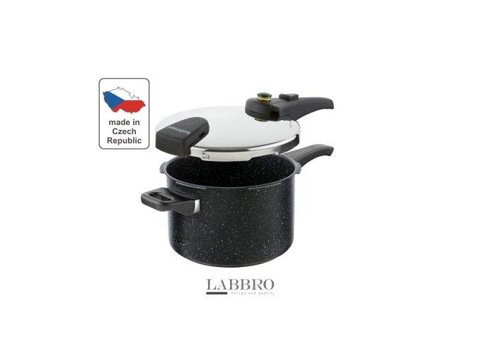 KOLIMAX Tlakový hrnec BIOMAX s BIO ventilem, průměr 22cm, objem 5.5l, BLACK GRANITEC 1