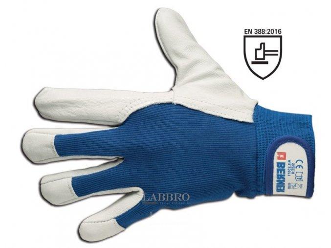 Kožené montážní rukavice zvýšená citlivost velikost 11
