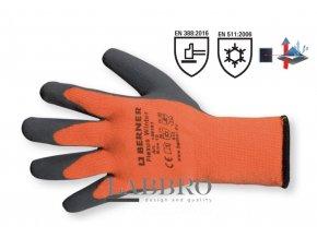 Berner ochranné zimní rukavice velikost 9