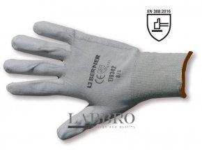 Berner pracovní rukavice velikost 9