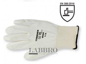 Berner jemně pletené pracovní rukavice bílé velikost 10
