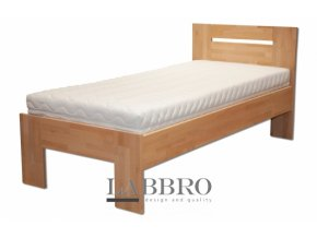masivní jednolůžková postel buková