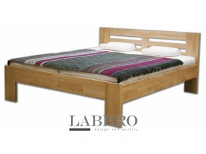 masivní buková postel Radka manželská dvojlůžko