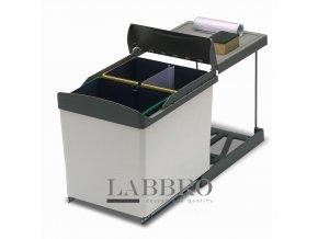 Vestavný odpadkový koš Linea 538 2x21 litrů plast