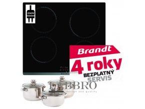 idnučkní deska Brandt BPI6410B+ sada hrnců Kolimax
