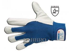 Kožené montážní rukavice zvýšená citlivost velikost 9