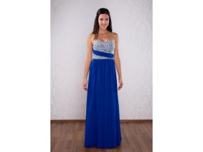 Adele modré Novinka. Dlouhé společenské šaty aedbfd5430