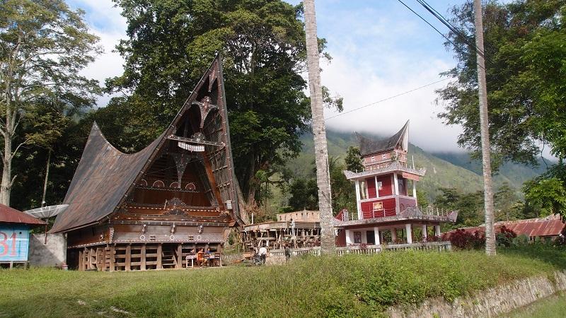 Indonésie - Samosir ostrov a jezero Toba