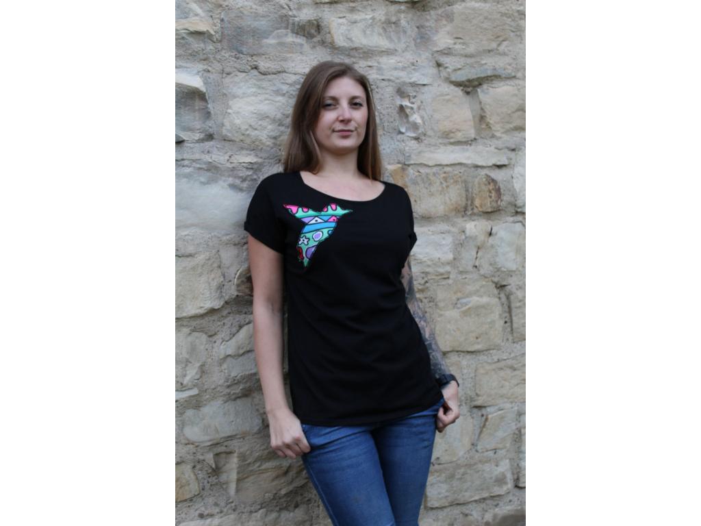 Černé tričko COLOURS 2