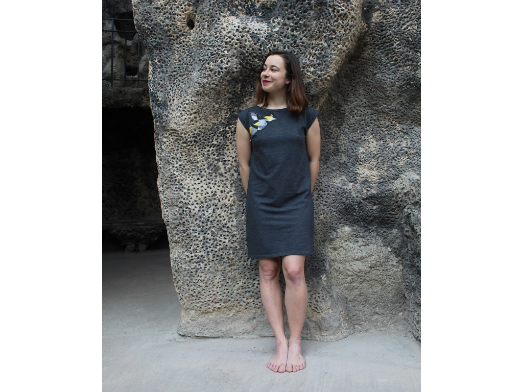 Šaty šedé YELLOW