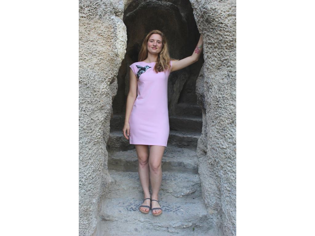 Šaty simple růžové city ledňáček