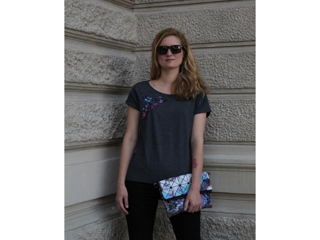 Šedivé tričko funky ledňáček