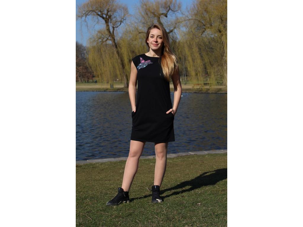Šaty simple černé funky ledňáček