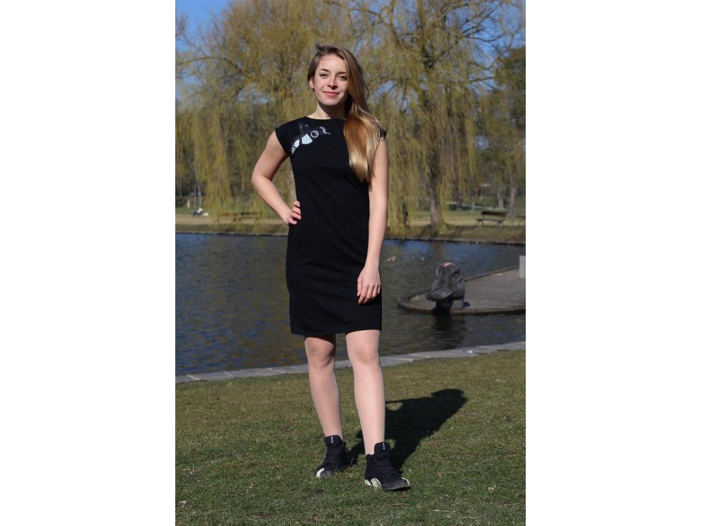 Černé šaty CITY
