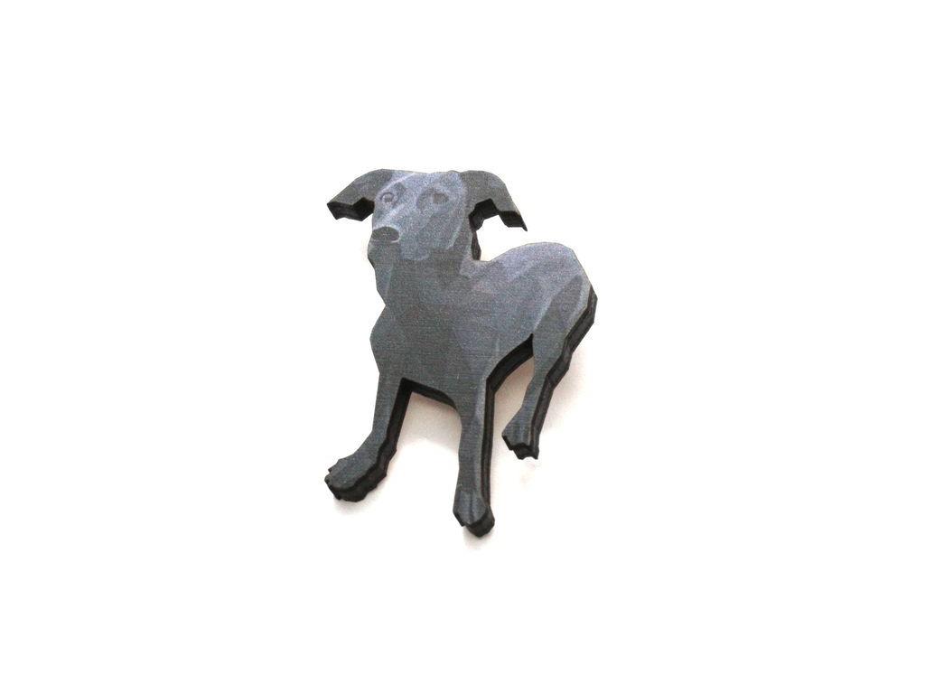 Brož černý pes