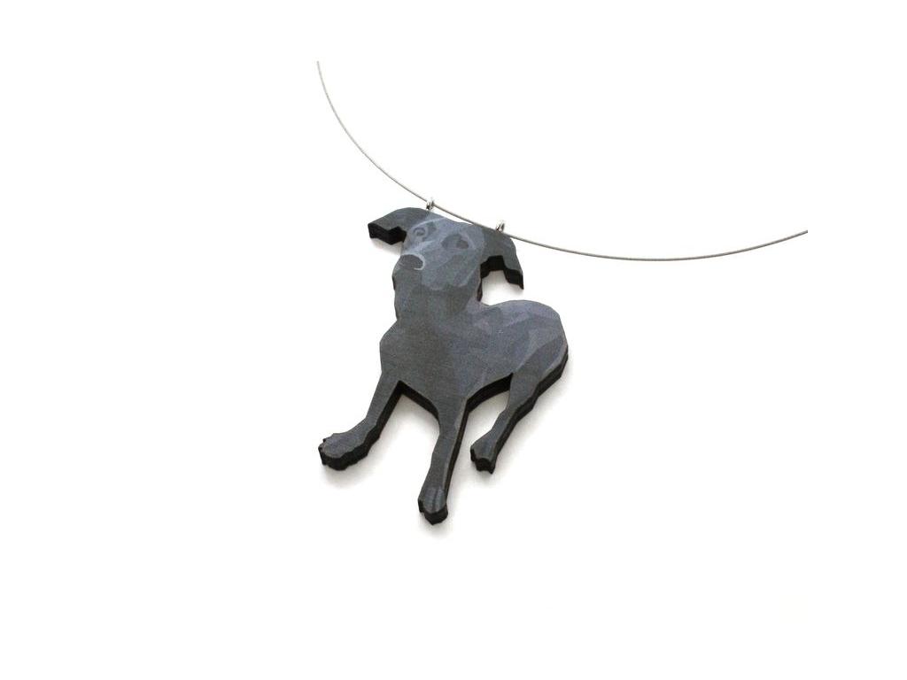 Náhrdelník černý pes