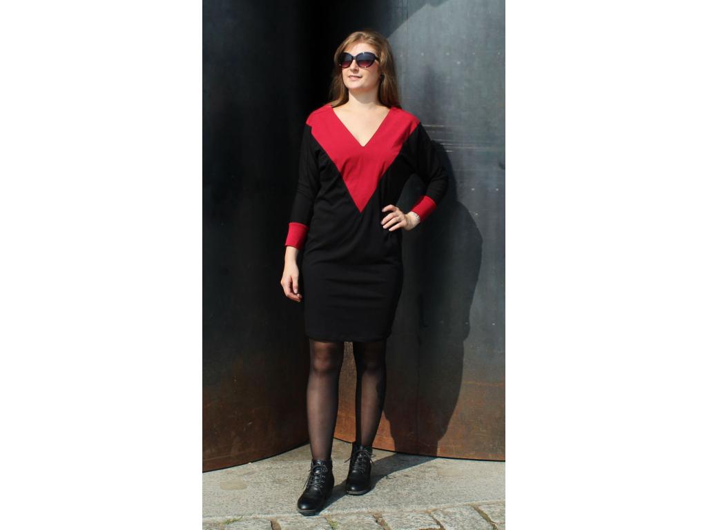 Šaty Party černé s červenou
