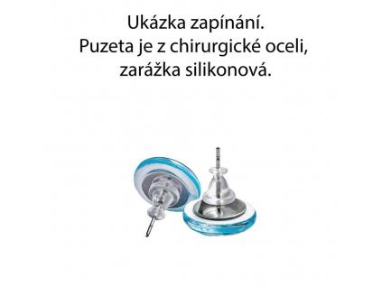 Náušnice modrý les kulaté