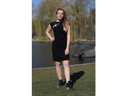 Šaty simple černé city ledňáček