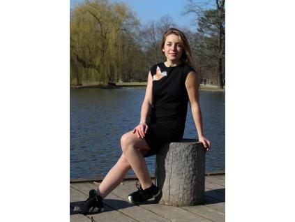 Černé šaty AKVAREL