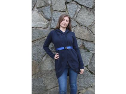 Modrý lesklý pásek - šíře 3 cm