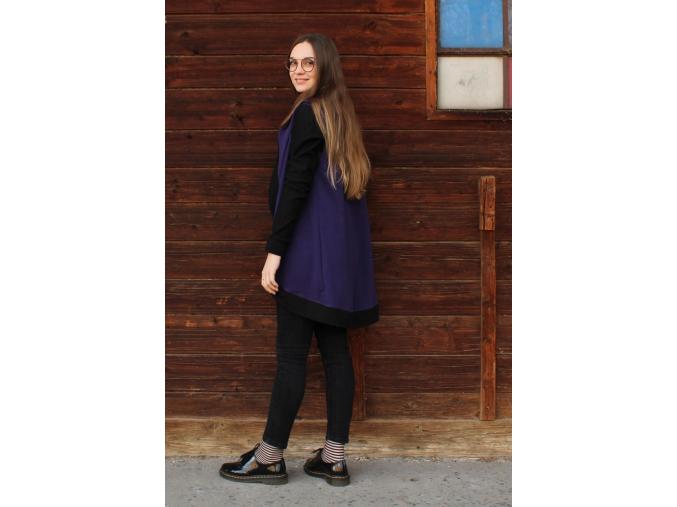 Šaty Šedesátky šedivočerné