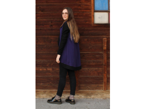 Šaty Šedesátky šedivo černé