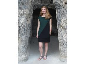 Šaty Šedesátky zelenočerné