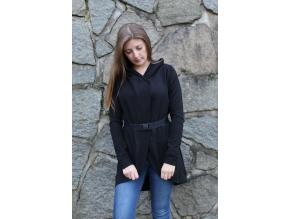 Tmavě šedivé tričko černobílý ledňáček