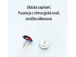 Náušnice červené bílé puntíky