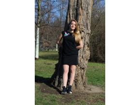 Šaty simple černé colours ledňáček