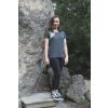 Tmavě šedivé tričko abstrakt ledňáček
