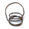Kreativní náhrdelník hnědý s tmavě šedivou
