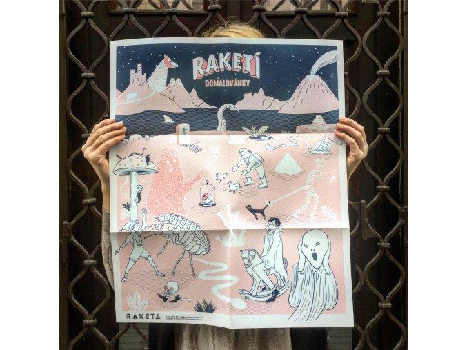 Plakát Raketí domalovánky strašidla