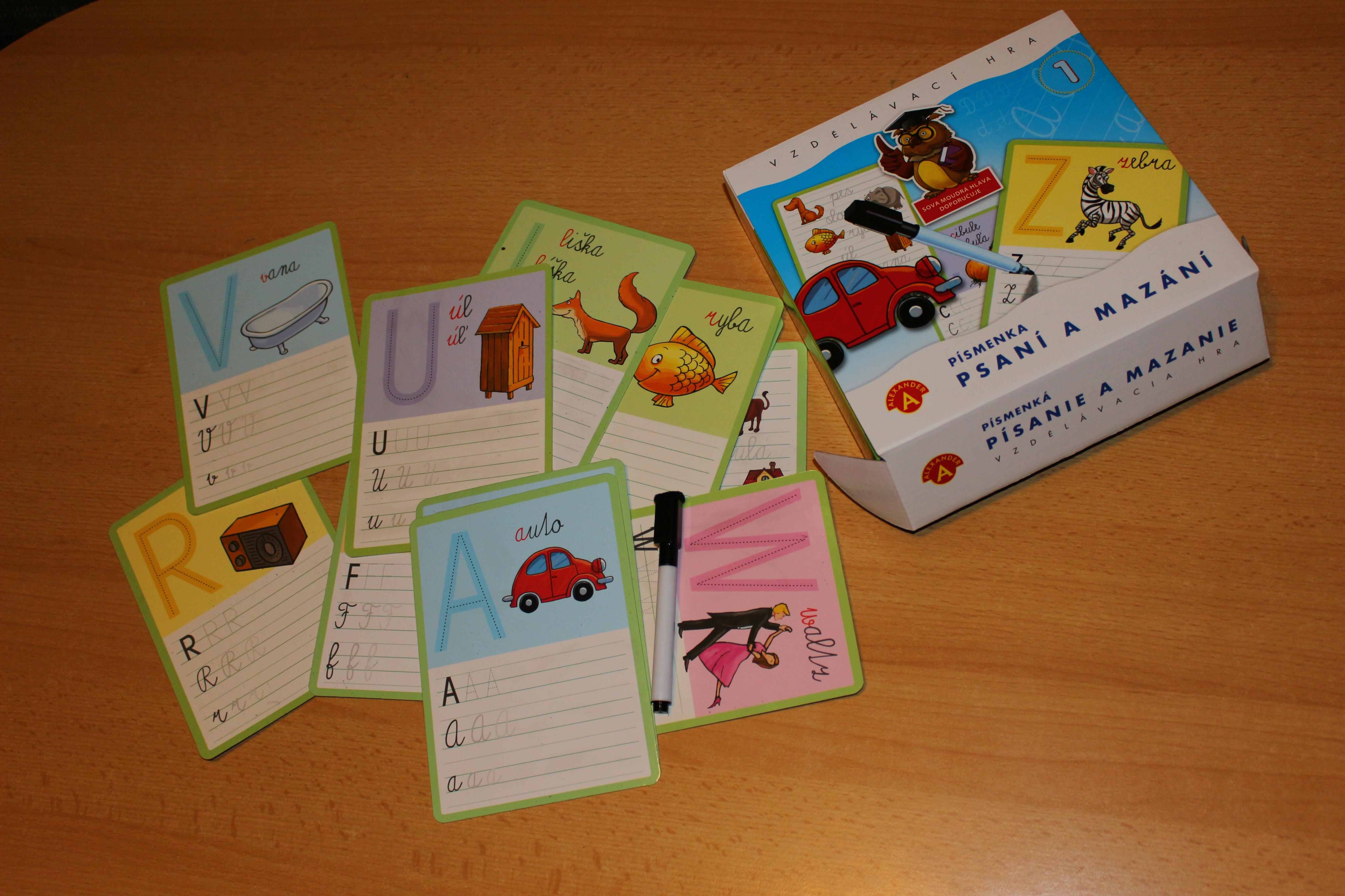 Hra - Psaní a mazání 1 písmenka článek