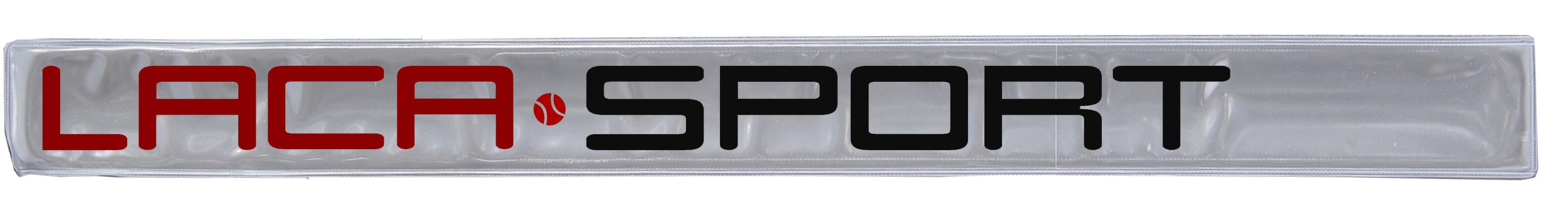 Ukázka reflexní pásky s logem LACASPORT