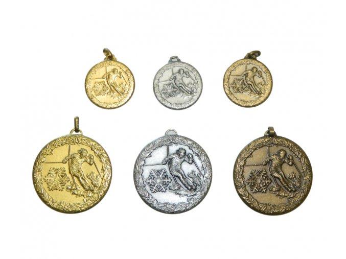 medaile motiv lyze sjezd