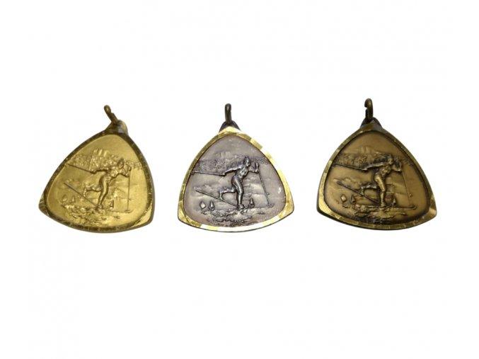 medaile motiv lyze bezky
